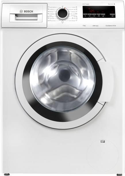 BOSCH 6 kg Fully Automatic Front Load with In-built Heater White