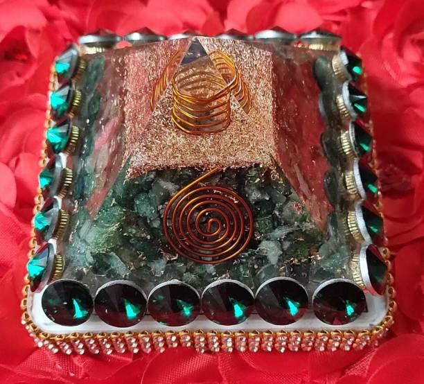 VASTU-SAMADHAN VSP-113 - Vastu Samadhan Natural Green Jade / ZADE ORGAN / ORGONE Pyramid Crystal Stone Pyramid for Reiki and Crystal Healing Stone Pyramids ( 3 Inch ) ( 270 Gram ) Crystal Yantra