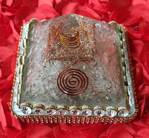 VASTU-SAMADHAN VSP-114 - Vastu Samadhan Natural OFF WHITE SLAENTINE ORGAN / ORGONE Pyramid Crystal Stone Pyramid for Reiki and Crystal Healing ( 3 Inch ) Crystal Yantra