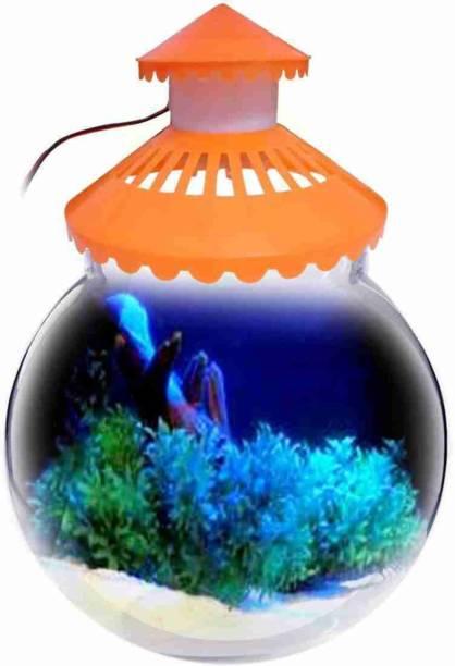 KINGSTOWNKING 1.5 LITER AQUARIUM BOWL (8INC) Round Ends Aquarium Tank