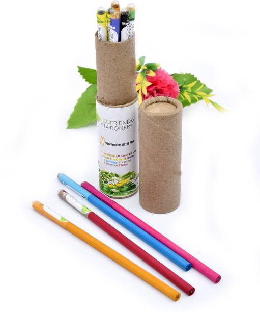ECOFRIENDLY STATIONERY Seed Recyclable Pencils ROUND Shaped Color Pencils