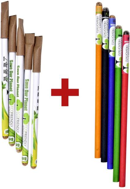 ECOFRIENDLY STATIONERY Seed Pens and Seed pencils Round Shaped Color Pencils