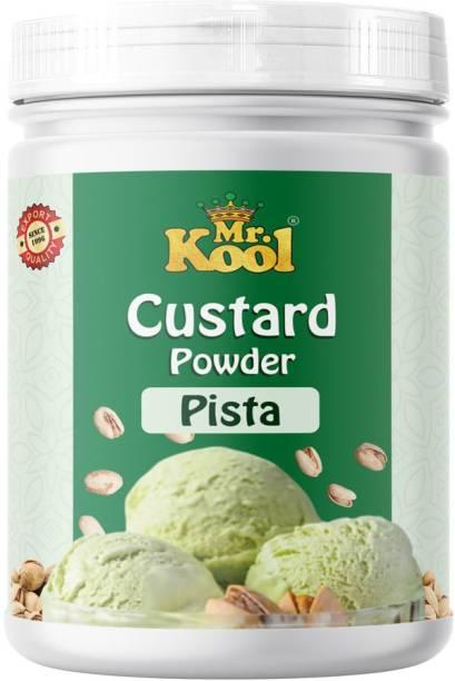 Mr.Kool Custard Powder (Pista Flavor) For Ice Cream, Cake, Egg less Custard Powder