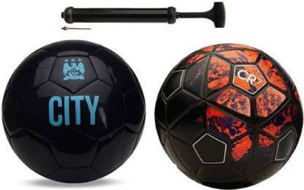 DIBACO SPORTS COMBO CITY AND CR-7 FOOTBALL WITH AIR PUMP Football - Size: 5