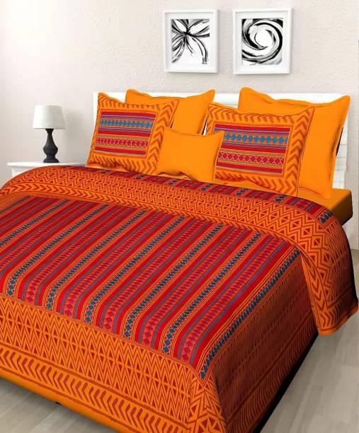 Homeline 150 TC Cotton Double King Geometric Bedsheet