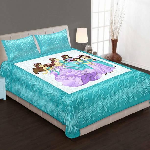 Homeline 150 TC Cotton Double King Cartoon Bedsheet