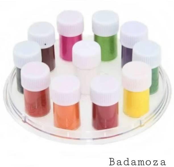 Badamoza Kumkum Bindi Liquid sangam 11 in 1 pack of 1 pc Forehead Multicolor Bindis