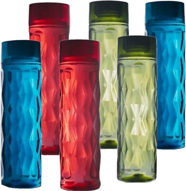 SELTIX Premium Quality Diamond Shape Fridge Bottle 1000 ml Bottle(Multicolor,PET, Plastic 1000 ml Bottle