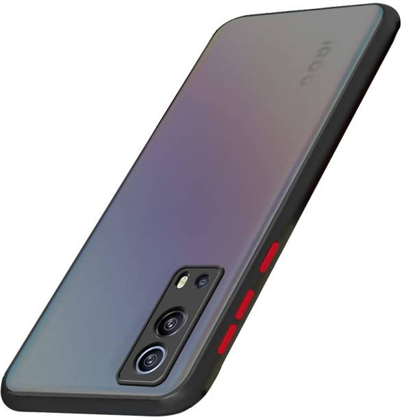Aboron Back Cover for Back Case Cover, IQOO Z3 (5G), (Camera Protection Smoke)