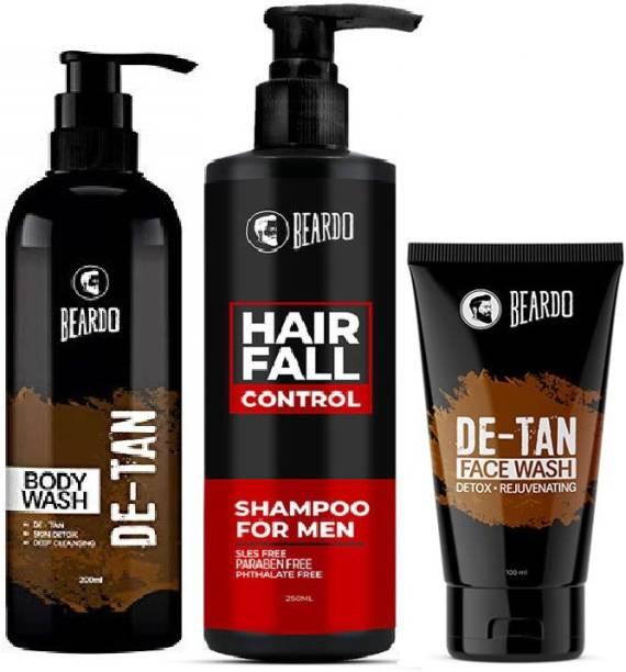 BEARDO Bath and Body Combo with De-tan Facewash and Bodywash | Made in India