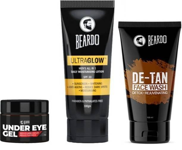 BEARDO Under Eye Glow Wash Combo
