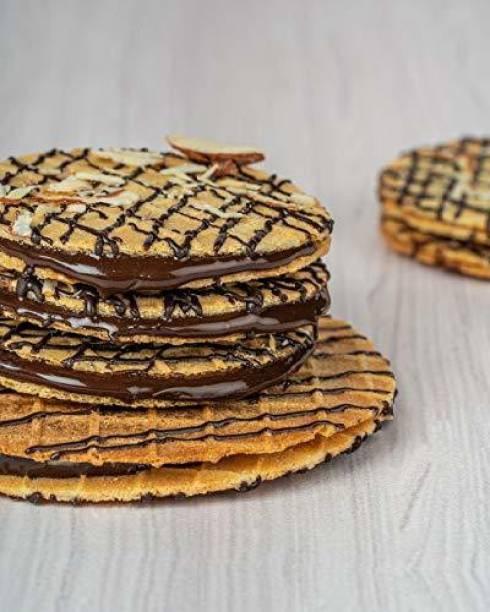 Waffle House Mini Waffle Cookies - Dark Chocolate, 100% Vegetarian, Fresh & Homemade, No Preservatives or Chemicals- (Box of 12) 150 gm Cookies