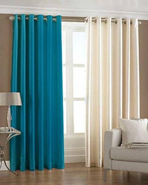 Shavi treders 7 Feet PLOYSTERs CURTAINS PACKS OF 2 Curtain Fabric
