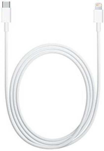 Prab Port C to lightning Cable   Charging and Data Transfer Cable with C94 Lightning Connector   MFi Certified 1 m Lightning Cable (Compatible with iPhones, iPads, Airpods, Apple watch, White, One Cable) 1 m Lightning Cable