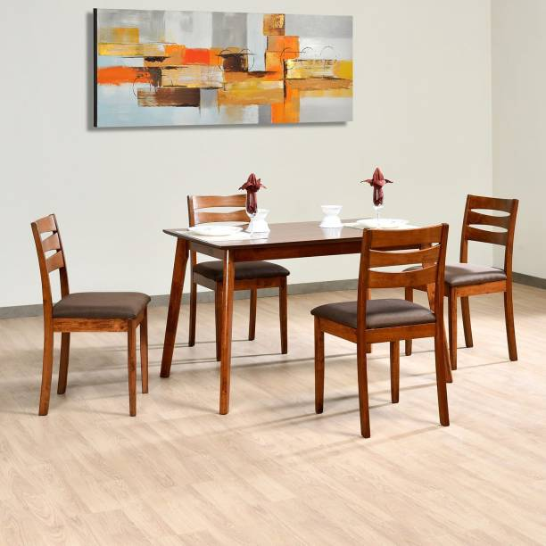 Nilkamal Felicia Solid Wood 4 Seater Dining Set