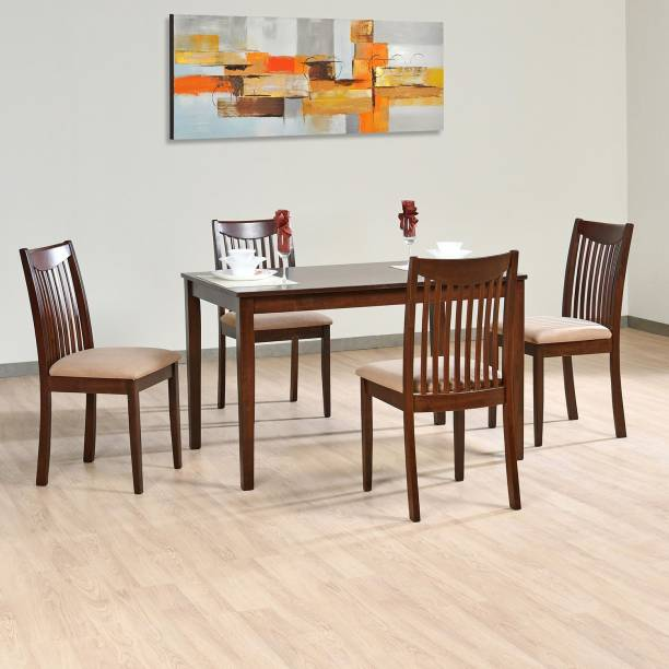 Nilkamal Venezuela Solid Wood 4 Seater Dining Set