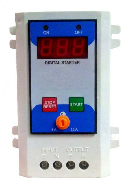 XM-INDIA Digital Air conditioner ON OFF switch or Motor starter switch with overload protection 20 A Two Pin Socket