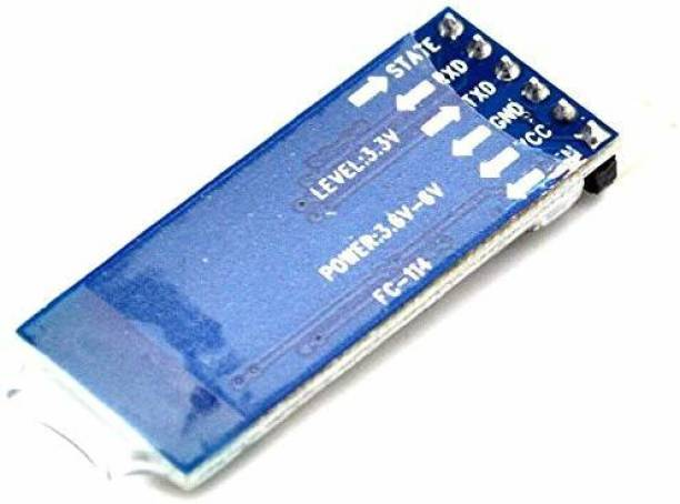 gobagee 1pc HC-05 Master-Slave 6 pin Wireless Bluetooth RFTransceiver Module Anti-Reverse, Integrated Bluetooth Serial Pass-Through Module, Wireless Serial FM Transmitter Electronic Hobby Kit Electronic Components Electronic Hobby Kit