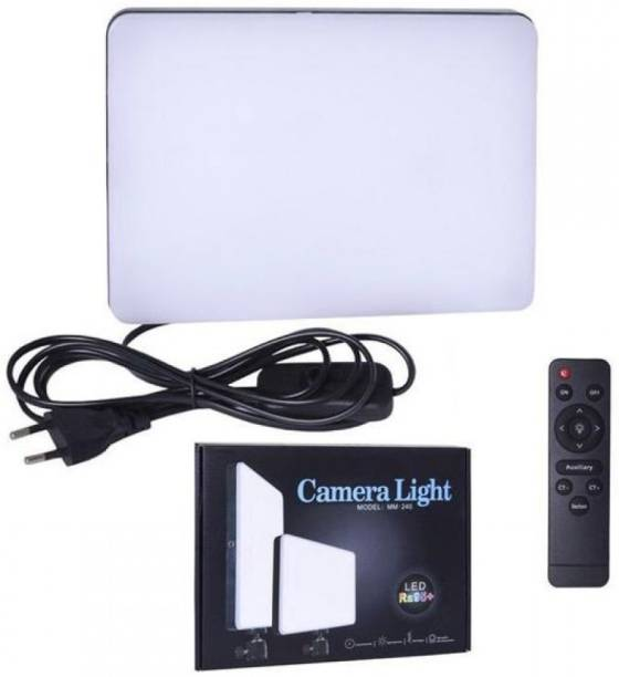 GiftMax Camera Light, LED Ra95+, Model : MM240 for Photography and Videography Flash