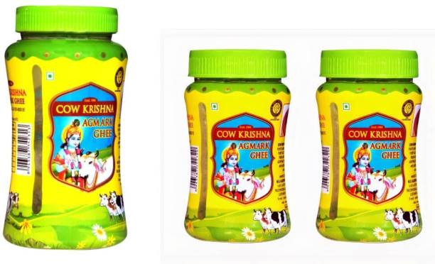 Cow Krishna Agmark ghee-pure cow ghee-Combo pack of 500ml jar and 2*200ml jar 900 g Plastic Bottle