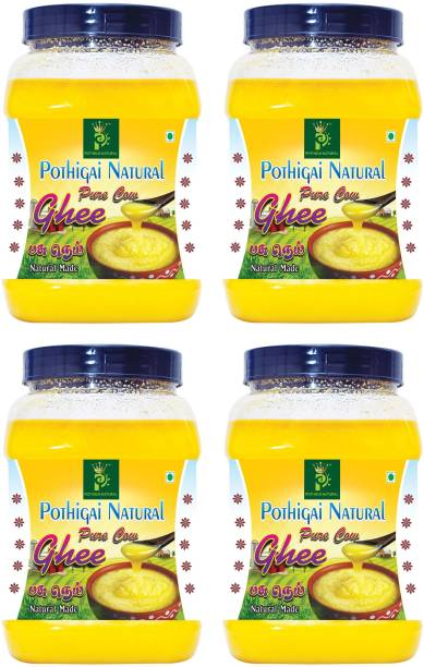 POTHIGAI NATURAL 4LITRES COMBO PURE COW GHEE 100% NATURAL MADE Ghee 4000 ml Plastic Bottle