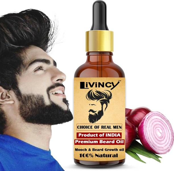 Livincy Red Onion Beard Growth oil for Specially Men Beard (Gift your face with a great beard)(BEARD YOUR OWN WAY) Hair Oil