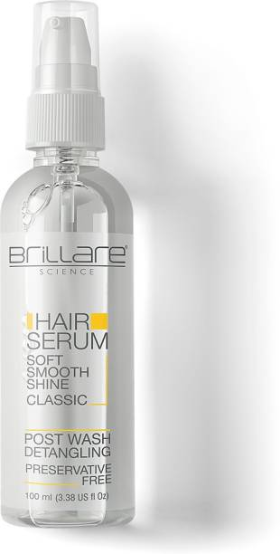 Brillare Classic Hair Serum For Soft, Smooth & Shiny Hair | Serum 100 ml | Wheat Germ | Grape Seed | 100% Vegan | No harmful chemicals