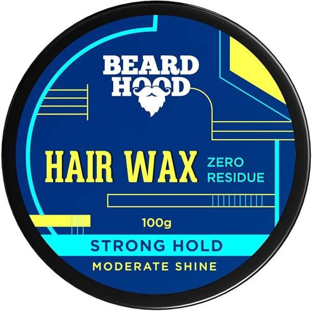 BEARDHOOD Zero Residue Strong Hold Hair Wax 100g | Moderate Shine | Zero Toxin & Vegan Hair Wax