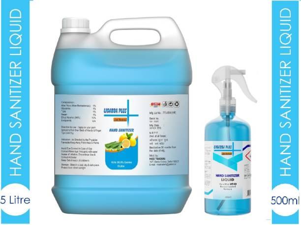 Ligabba 5LTR CAN + 500ML Spray Hand sanitizer liquid Hand Sanitizer Can