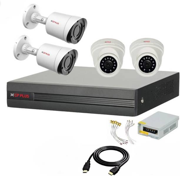 CP PLUS 4 Channal HD DVR 1080p 1Pcs,Outdoor Camera 2.4 MP 2Pcs,Indoor Camera 2.4 MP 2Pcs,Power Supply 1Pcs,combo set Security Camera