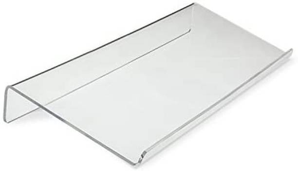 NARAYAN LNT Angled Keyboard Stand - Tilted for Easy Ergonomic Typing - Clear Acrylic and Sturdy, Transparent Keyboard Tray
