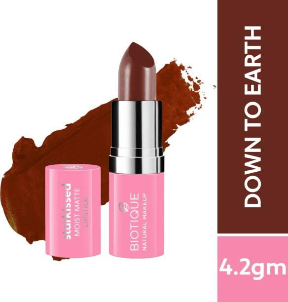 BIOTIQUE Starkissed Moist Matte Lipstick, Down To Earth