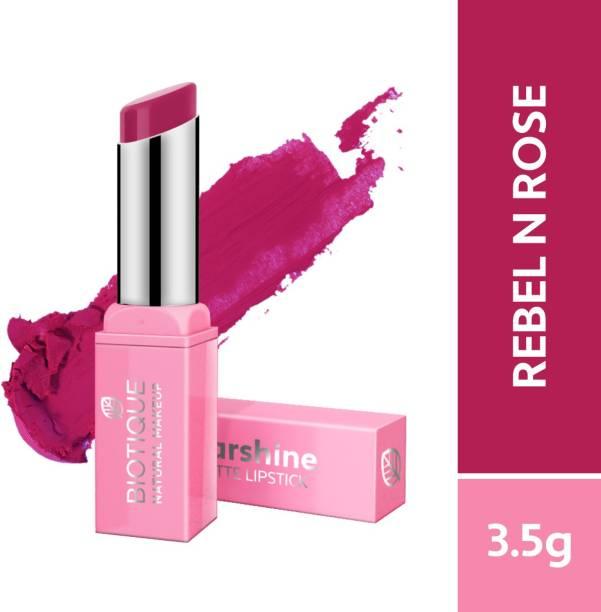 BIOTIQUE Starshine Matte Lipstick, Rebel Rose