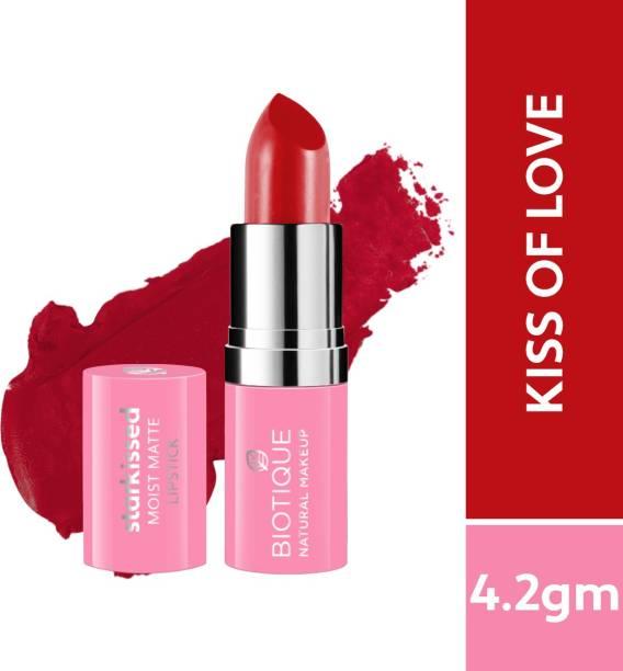 BIOTIQUE Starkissed Moist Matte Lipstick, Kiss Of Love