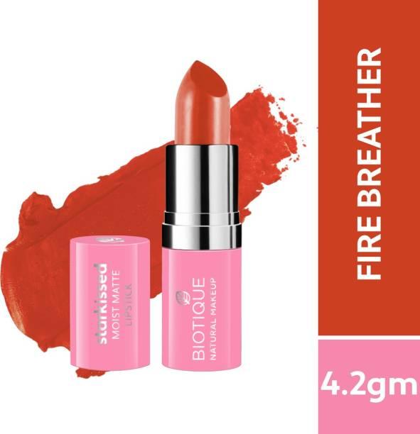 BIOTIQUE Starkissed Moist Matte Lipstick, Fire Breather