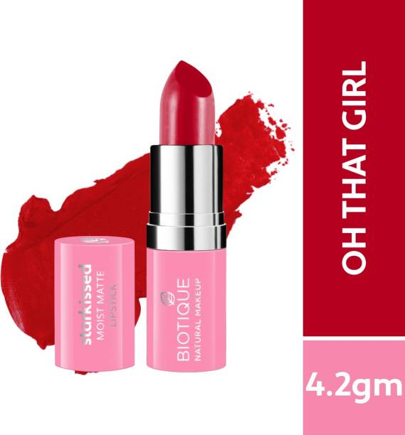 BIOTIQUE Starkissed Moist Matte Lipstick, Oh That Girl