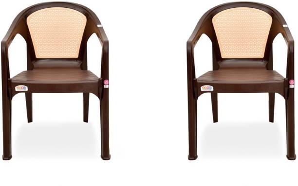 AVRO furniture 9944 Plastic Chair Matt & Gloss Pattern Plastic Living Room Chair