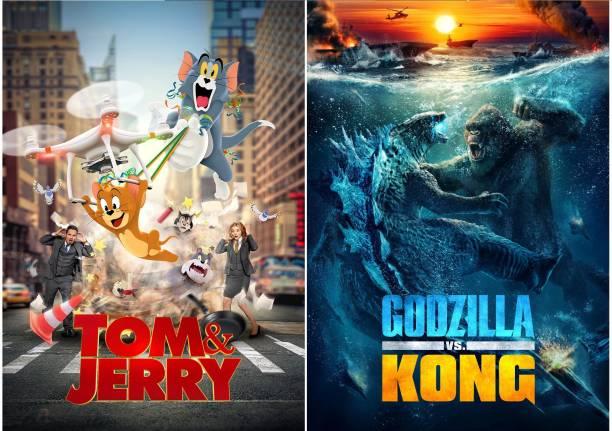 Tom and Jerry 2021 & Godzilla VS Kong (English+Hindi) 5.1 dual audio 1080P quality Movie DVD