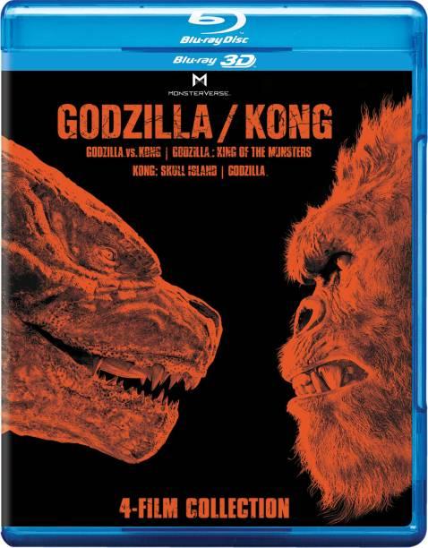 Godzilla vs. Kong + Godzilla: King of the Monsters + Kong: Skull Island + Godzilla (2014) (Blu-ray 3D) (4-Disc)