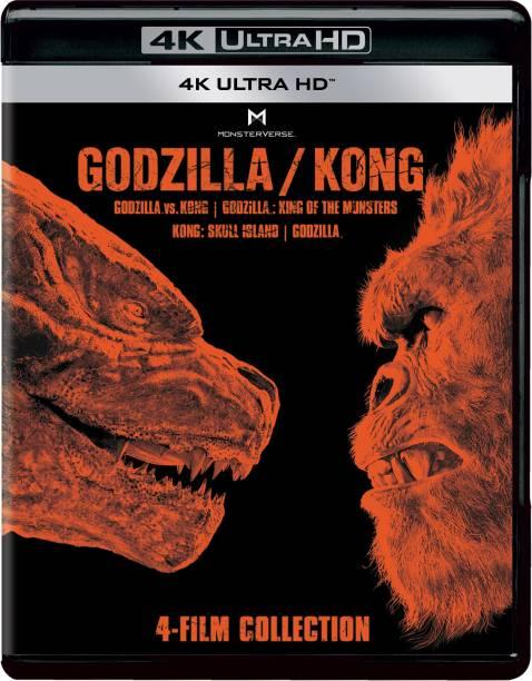 Godzilla vs. Kong, Godzilla: King of the Monsters + Kong: Skull Island + Godzilla (2014) (4K UHD) (4-Disc)