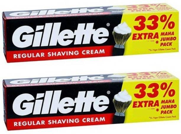 GILLETTE regular shaving cream 33% extra (2*93.1g)