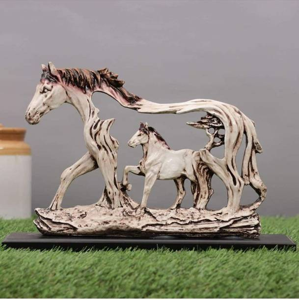 BECKON VENTURE Handicrafted Fengshui Vastu Wall Hanging Horse Showpiece with a Baby Horse Figurines for Home décor||animal showpiece |Home décor showpieces|decoration items for house|handicraft home decor|showpiece figurine |table decoration items|Decorative items for room in Racks & Shelves|handicraft items in Showpieces& Figurines|statues|statue gift|Statue for home|Showpieces &Figurines|showpiece gift sets|showpiece for living room| showpieces for bedroom|showpiece for home| Decorative Showpiece  -  21 cm