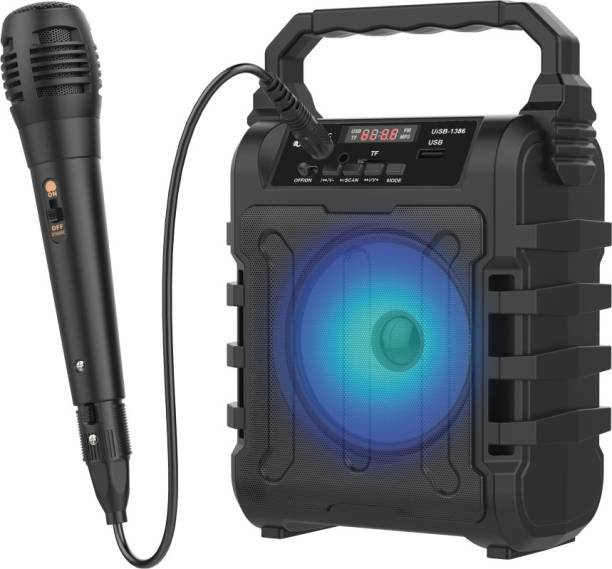 U&I Song Series Wireless Speaker with Karaoke mic and 6 hours Battery Backup 8 W Bluetooth PA Speaker