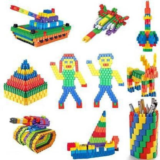 Kiddie Castle 200 PCS Creative Bullets Shaped Stem Building Blocks Toy Set For Kids