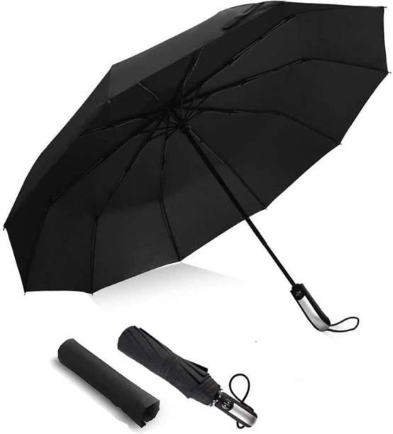 Coozico Travel Folding Automatic Umbrella; Auto Open Close Button, Lightweight 10 Ribs Umbrella Umbrella