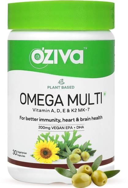OZiva Plant Based Omega Multi (with Vegan Omega-3, Plant Vitamins) for Better Immunity