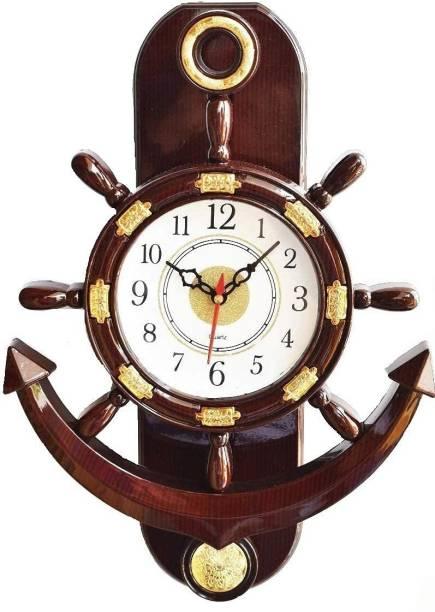 Brothers creation Analog 36 cm X 32 cm Wall Clock