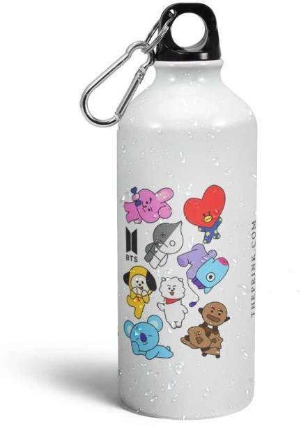 LadduGopalCart BTS CARTOON 600 ml Water Bottle
