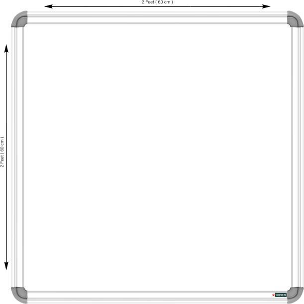 YAJNAS Non Magnetic 2 X 2 feet Whiteboard, One Side White Board Marker and Reverse Side Green Chalk Board Surface Whiteboards Whiteboards