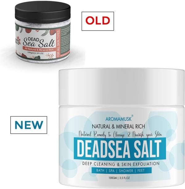 aromamusk 100% Natural and Mineral Rich Dead Sea Salt For Deep Cleaning & Skin Exfoliation